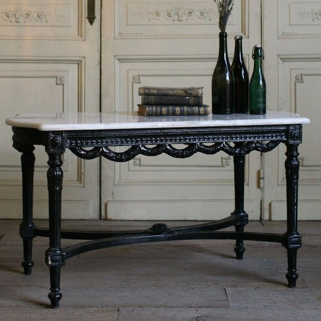 Superior One Of A Kind Vintage Coffee Table Black Gloss Eloquence Furniture Tables  Coffee Tables