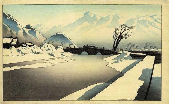 Pieter Irwin Brown. Winter in Manchukuo- early morning sleighride.