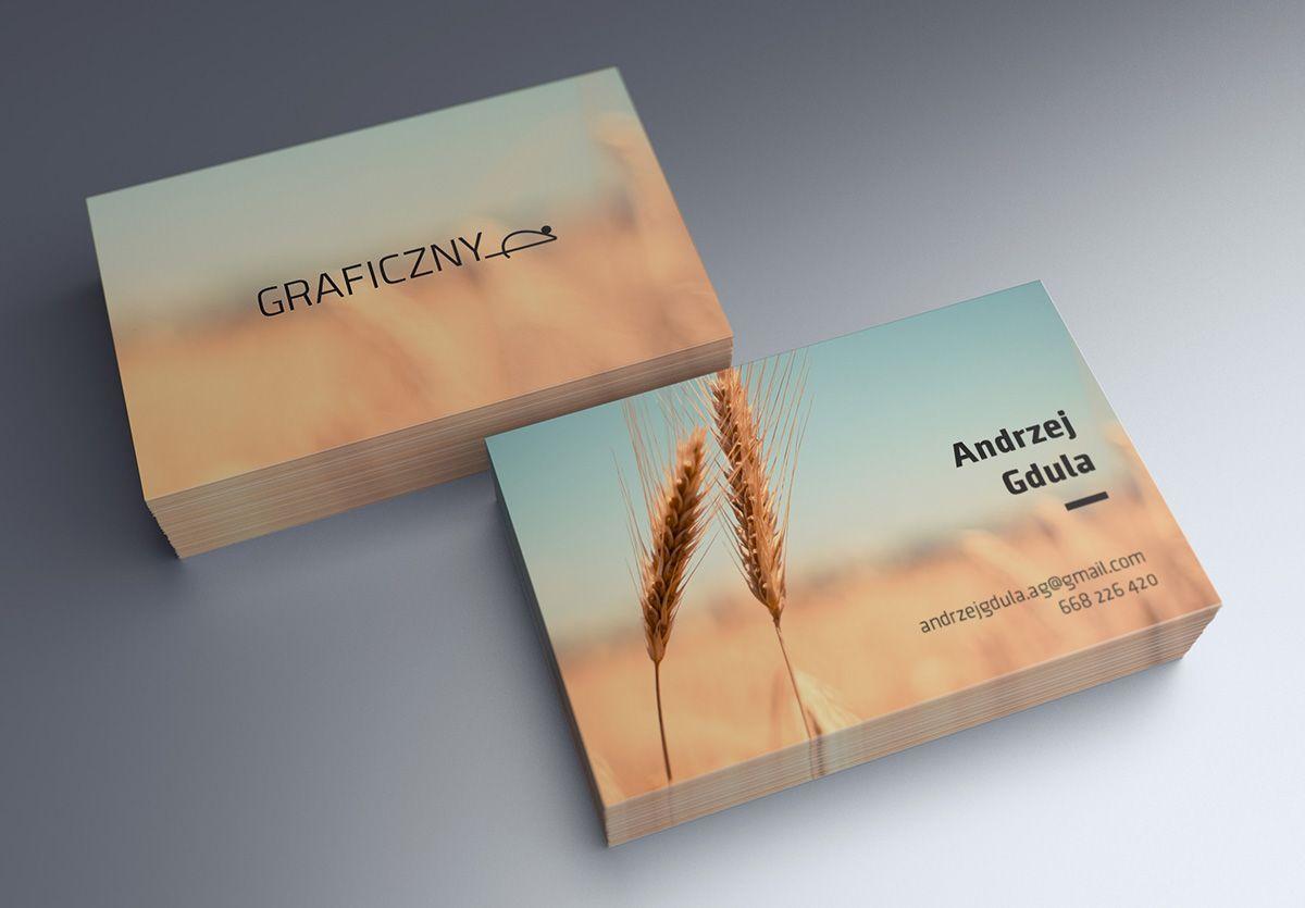 Mock-up – Wizytówka / Business Card – 55 x 85 mm   Graphic design ...