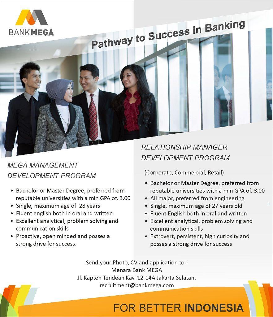 Bank Mega career opportunities for Bachelor & Master's