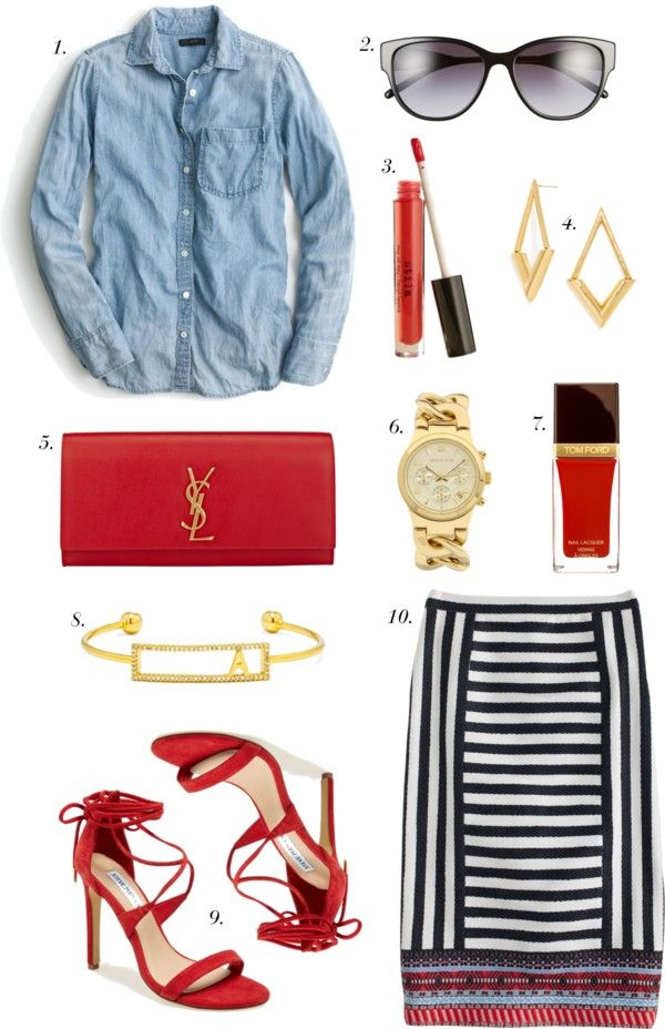 110eeaca1e358 Pop of Red Outfit Inspiration... | A Blonde's Moment Wednesday ...