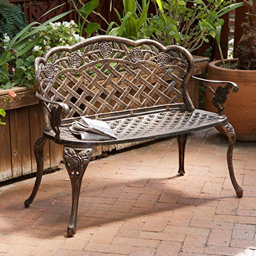 Buy Santa Fe Cast Aluminum Garden Bench   Topvintagestyle.com ✓ FREE  DELIVERY Possible On