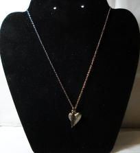 Pewter Heart & Feather Necklace - FREE Shipping!