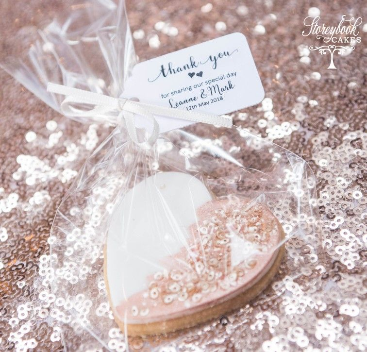 Rose Gold Wedding Favour Rose Gold Wedding Biscuits Biscuit