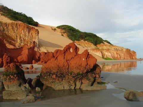 canoa quebrada , praia de ponta grossa.