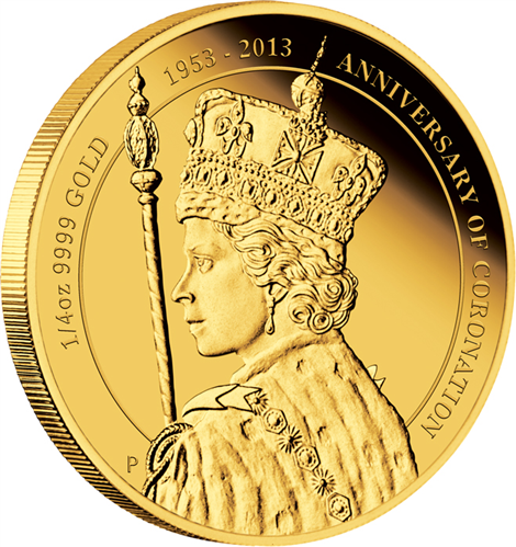 Silver Proof Coin Queen Elizabeth II 60th Anniversary of the Coronation 2013