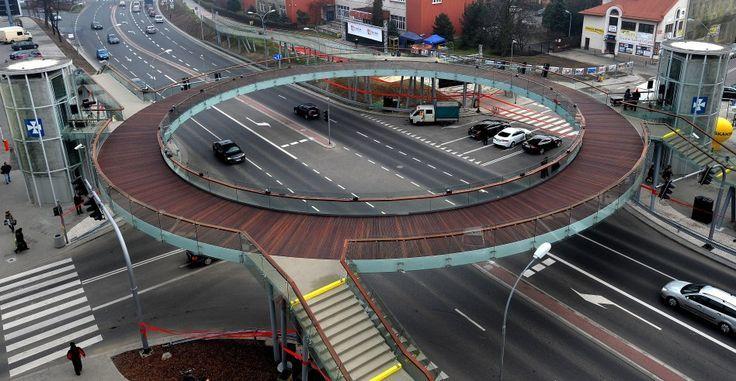Lujiazui Circular Pedestrian Bridge, Pudong District ...