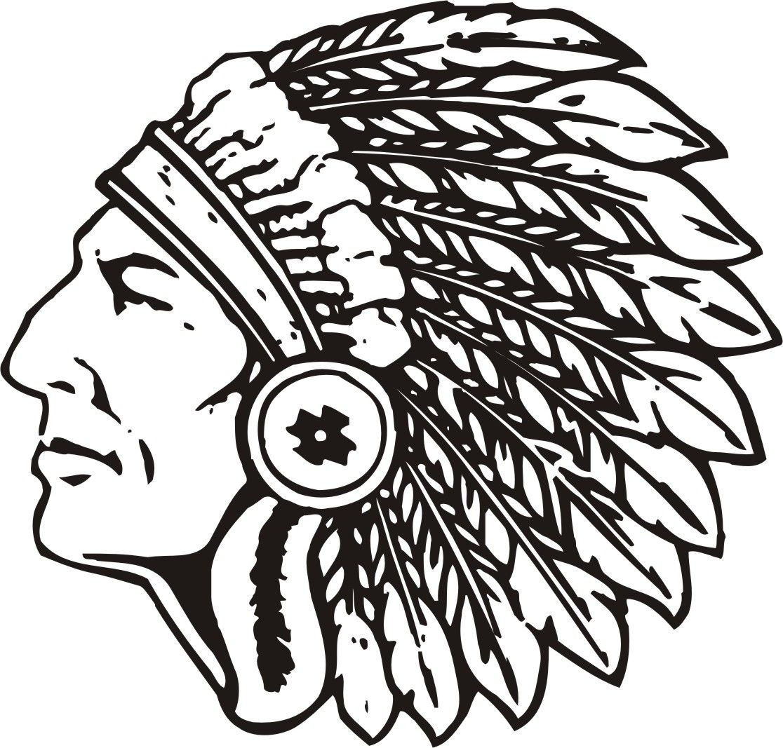 High School Indian Mascot Clipart