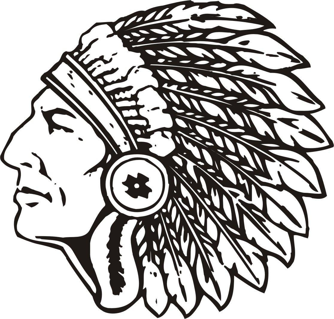 High School Indian Mascot Clipart