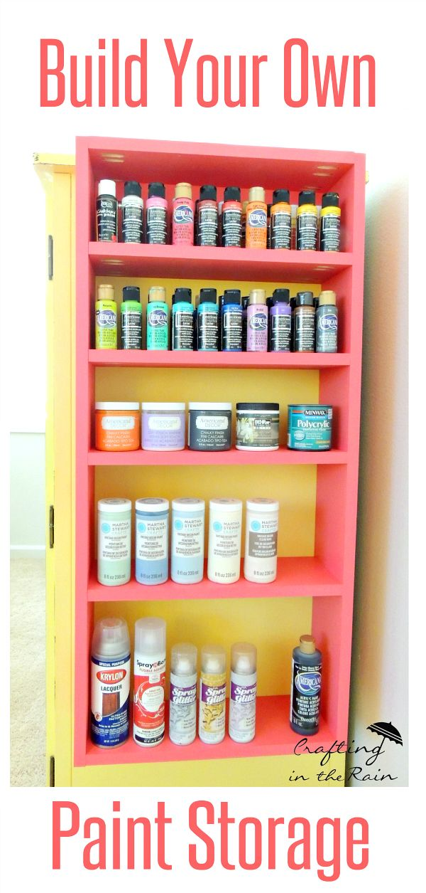 Build Some Shelves For Your Craft Room To Keep The Mess Under Control.