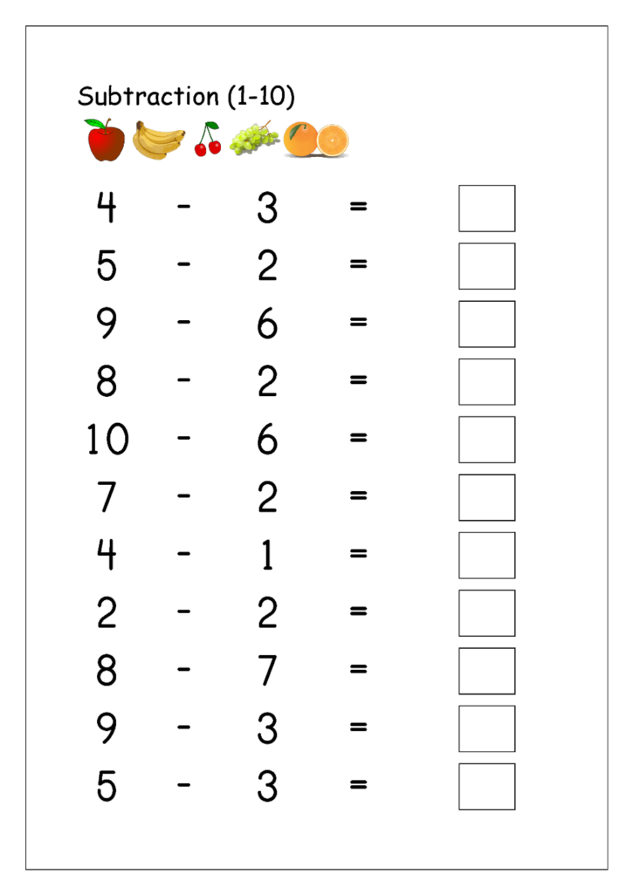 Subtraction 1 10 Worksheets For Elementary School Educative Printable Math Subtraction Worksheets Subtraction Worksheets Subtraction Kindergarten [ 1272 x 900 Pixel ]