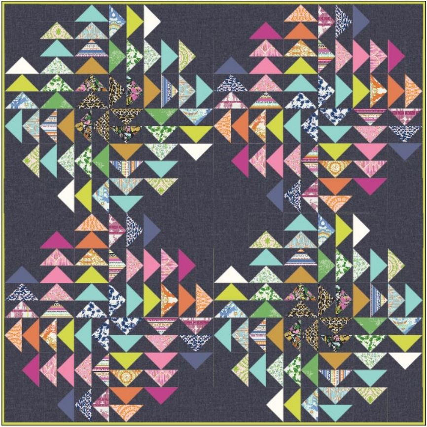 Modern Flying Geese Quilt Pattern