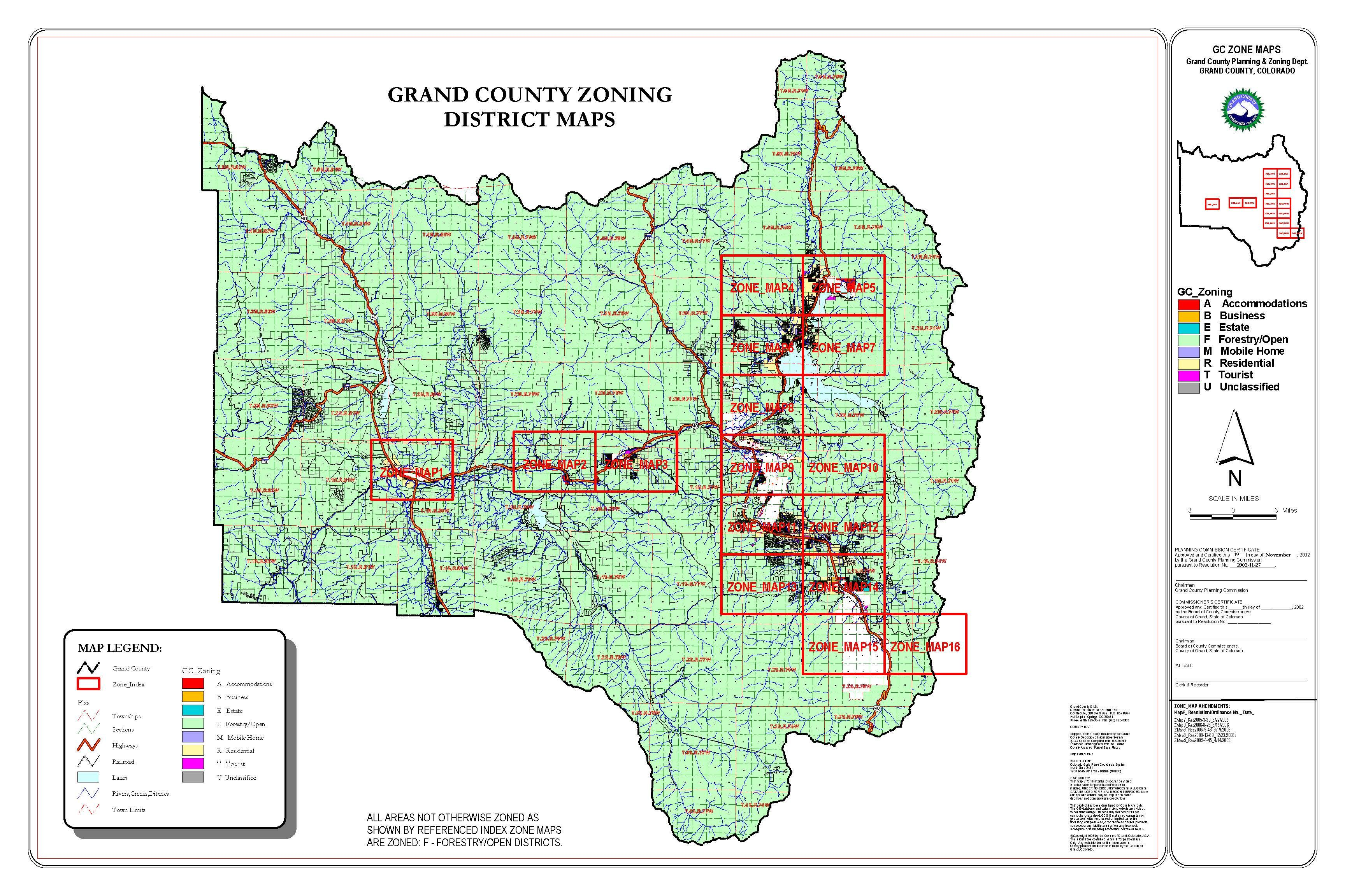 Official Website Grand County Colorado Map Map