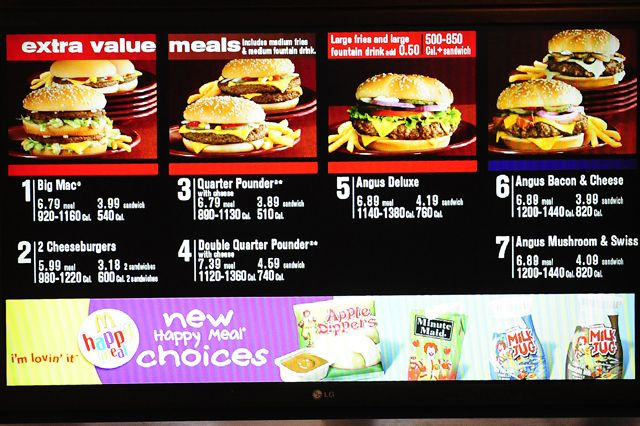 The Shocking Calorie Truth About Your Fast-Food Favorites... Glad i dont eat Fast food!
