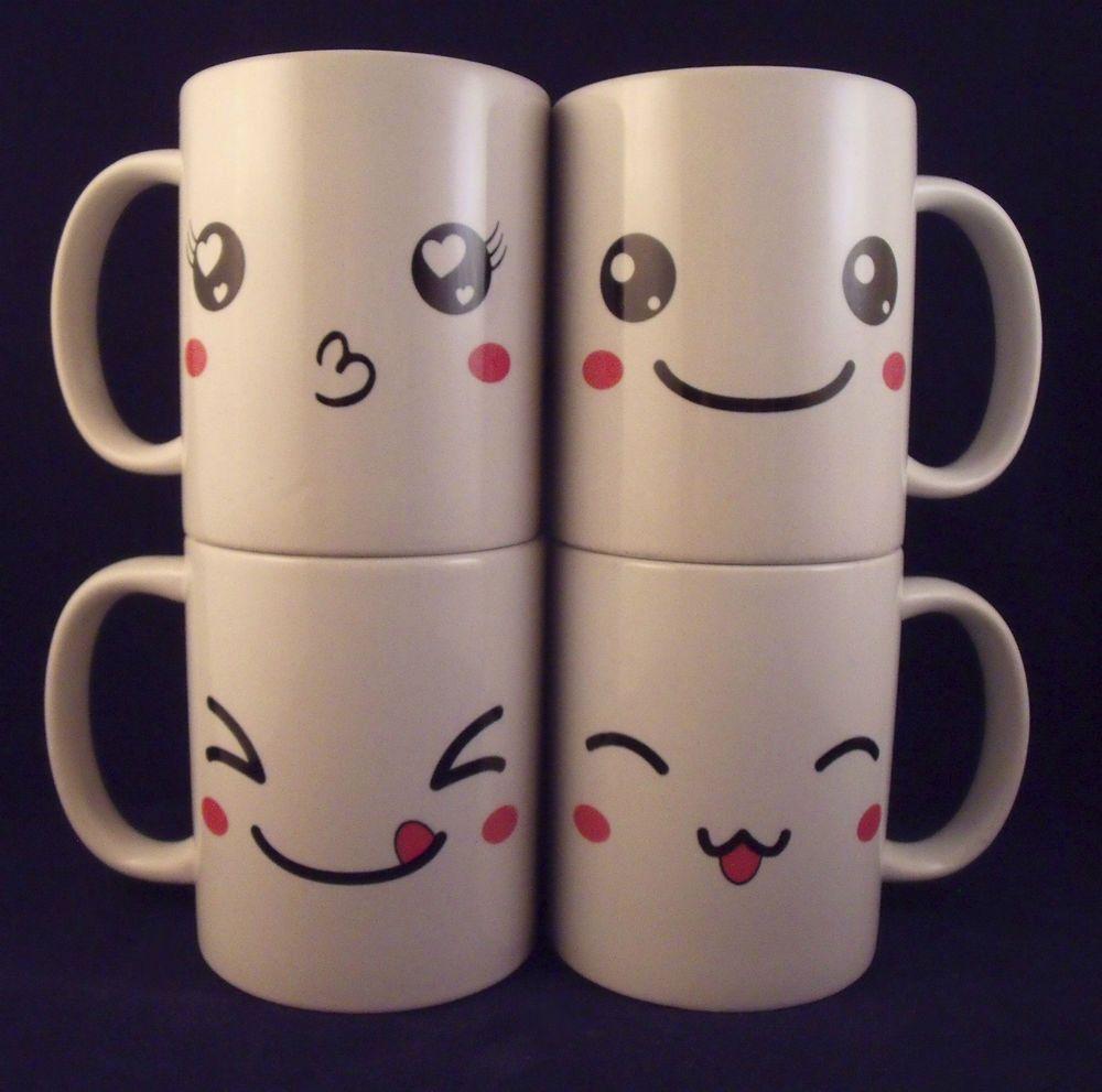 Dettagli su kawaii face coffee mug cartoon anime