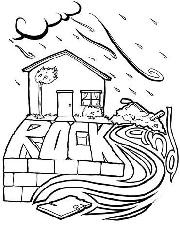 26++ Wise and foolish builders coloring page download HD