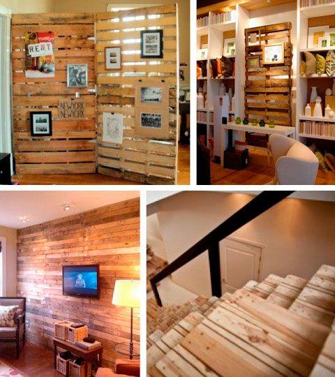 Usar palets de madera para decorar es una soluci n f cil for Decoracion facil y economica para el hogar