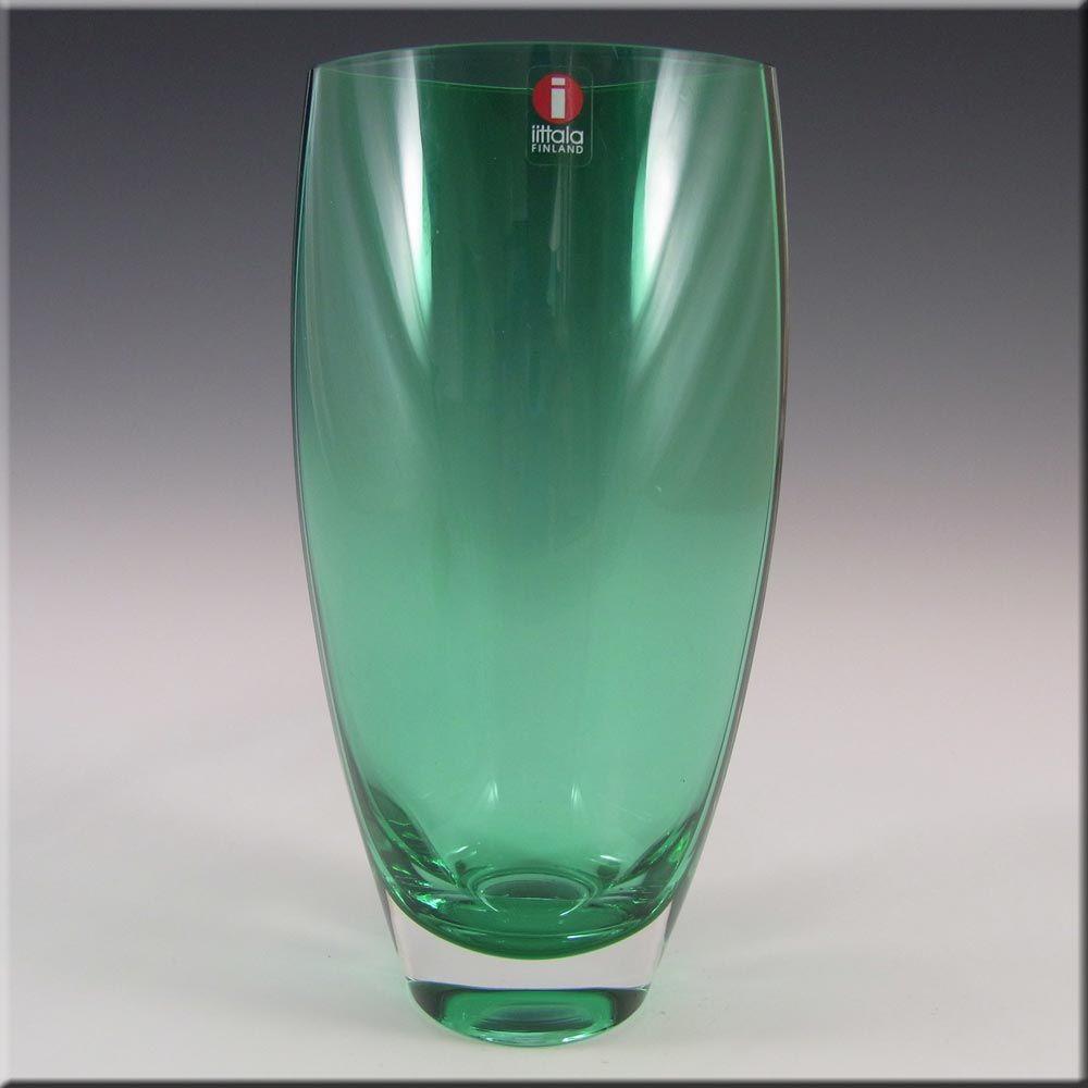 Iittala Tina Nordström Green Glass 39 Leia 39 Vase Label