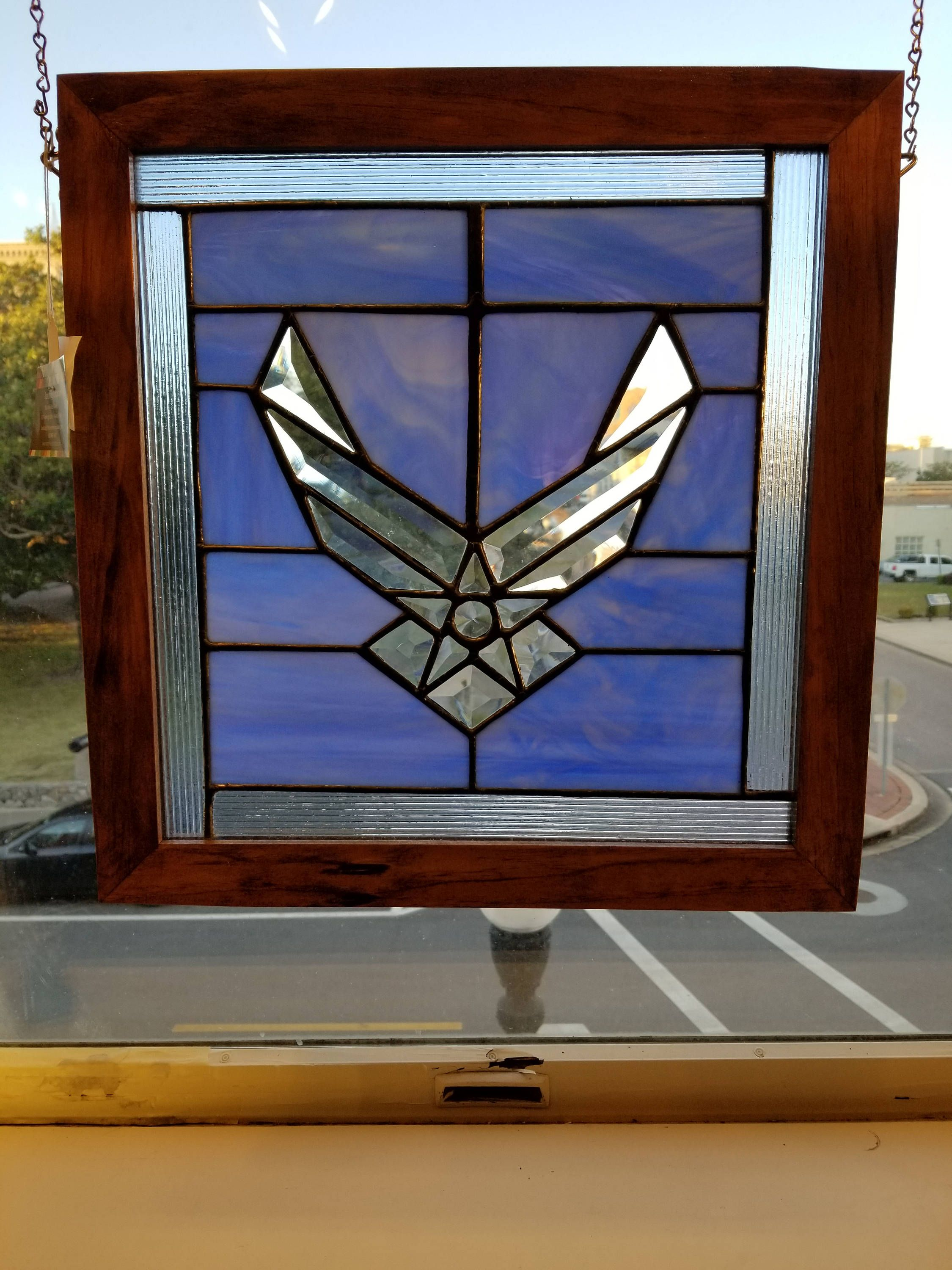 Stained Glass Air Force Panel, military gifts, retirement