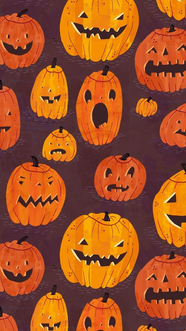 Halloween Pumpkins Pattern Iphone 5s Wallpaper Halloween