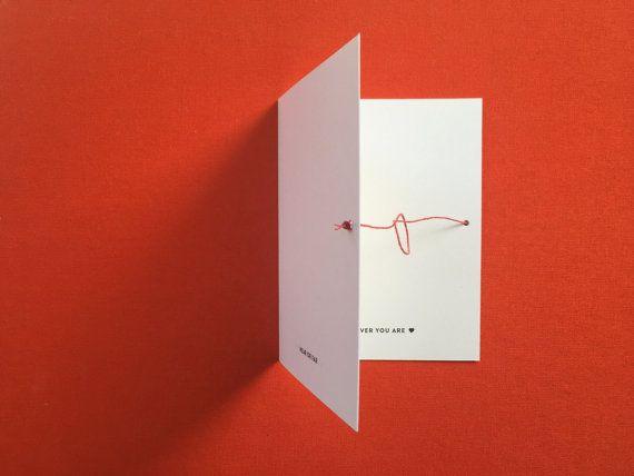Rakhi / Raksha Bandhan Card w. string that ties by madebybadal