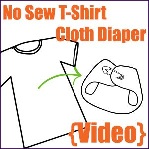 No-Sew T-Shirt Cloth Diaper - The Eco-Friendly Family