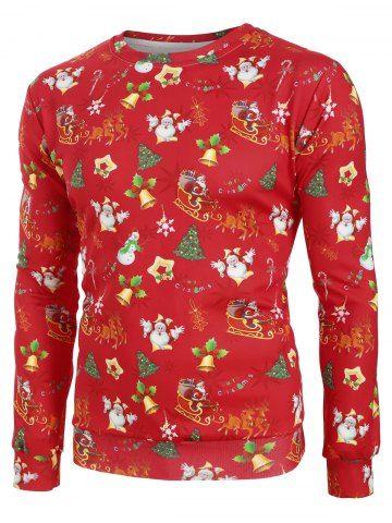 Christmas Pattern Allover Print Casual Sweatshirt