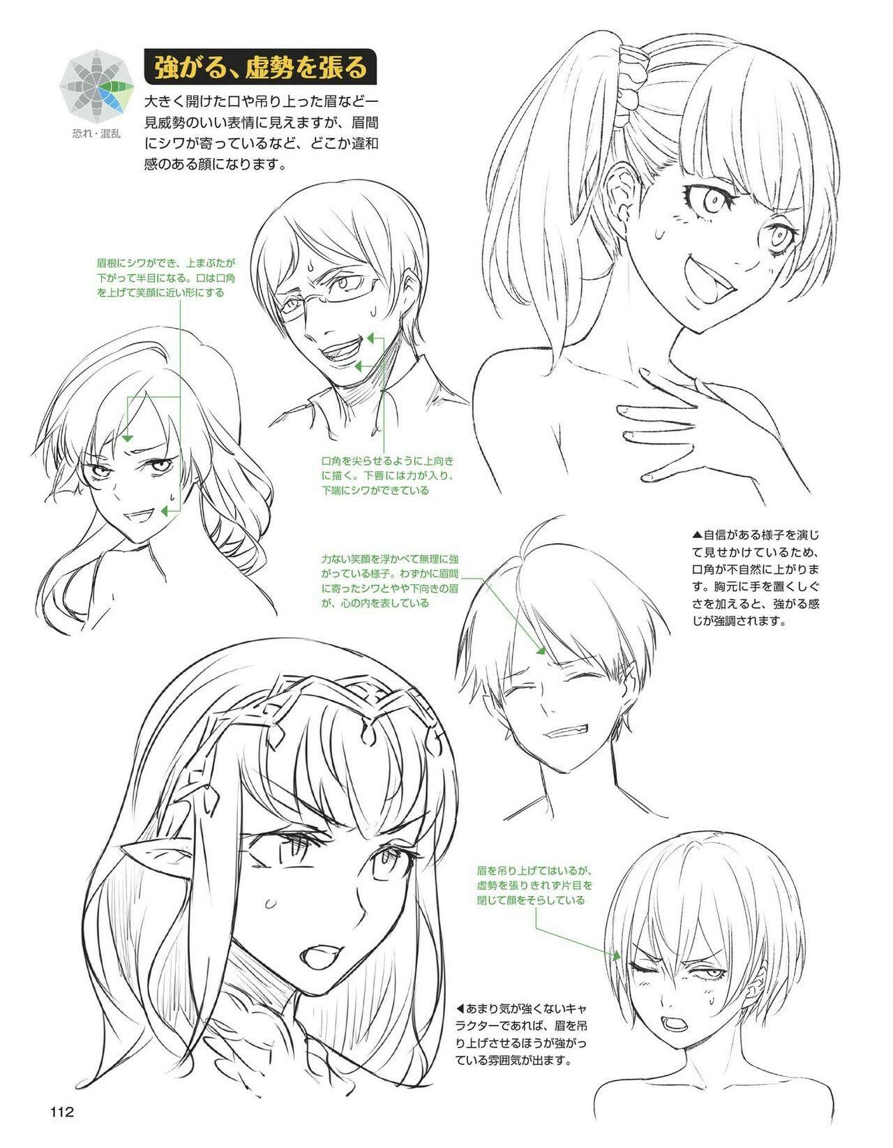 Anime Emotion Worried Manga Drawing Tutorials Anime