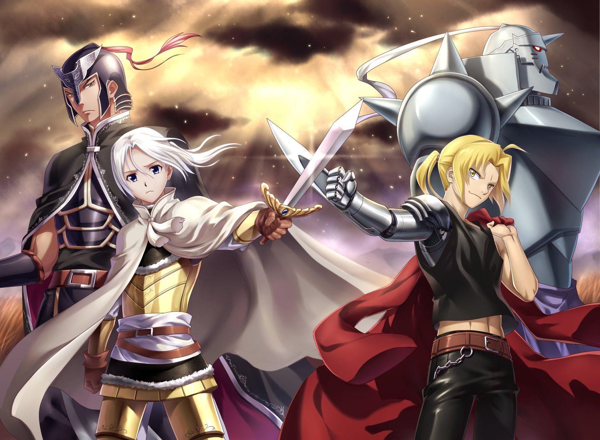 Anime crossover edward elric alphonse elric fullmetal