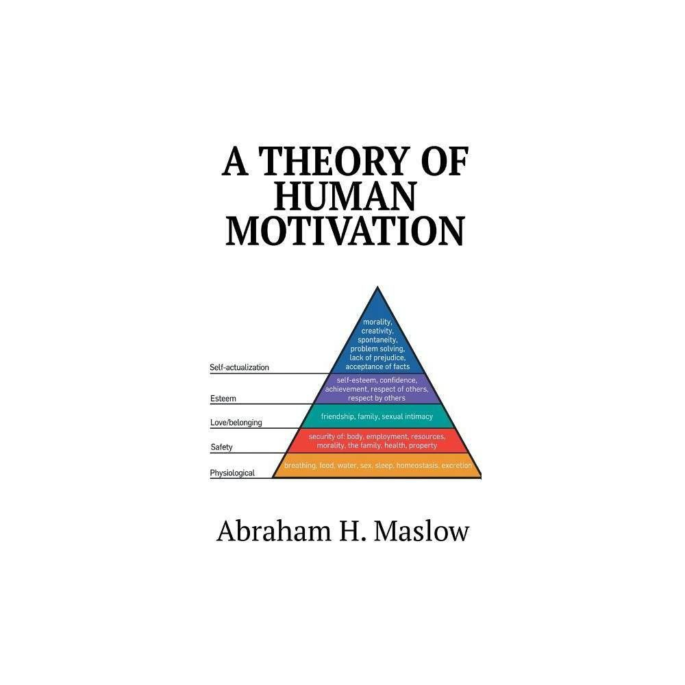A Theory of Human Motivation - by Abraham H Maslow (Hardcover)