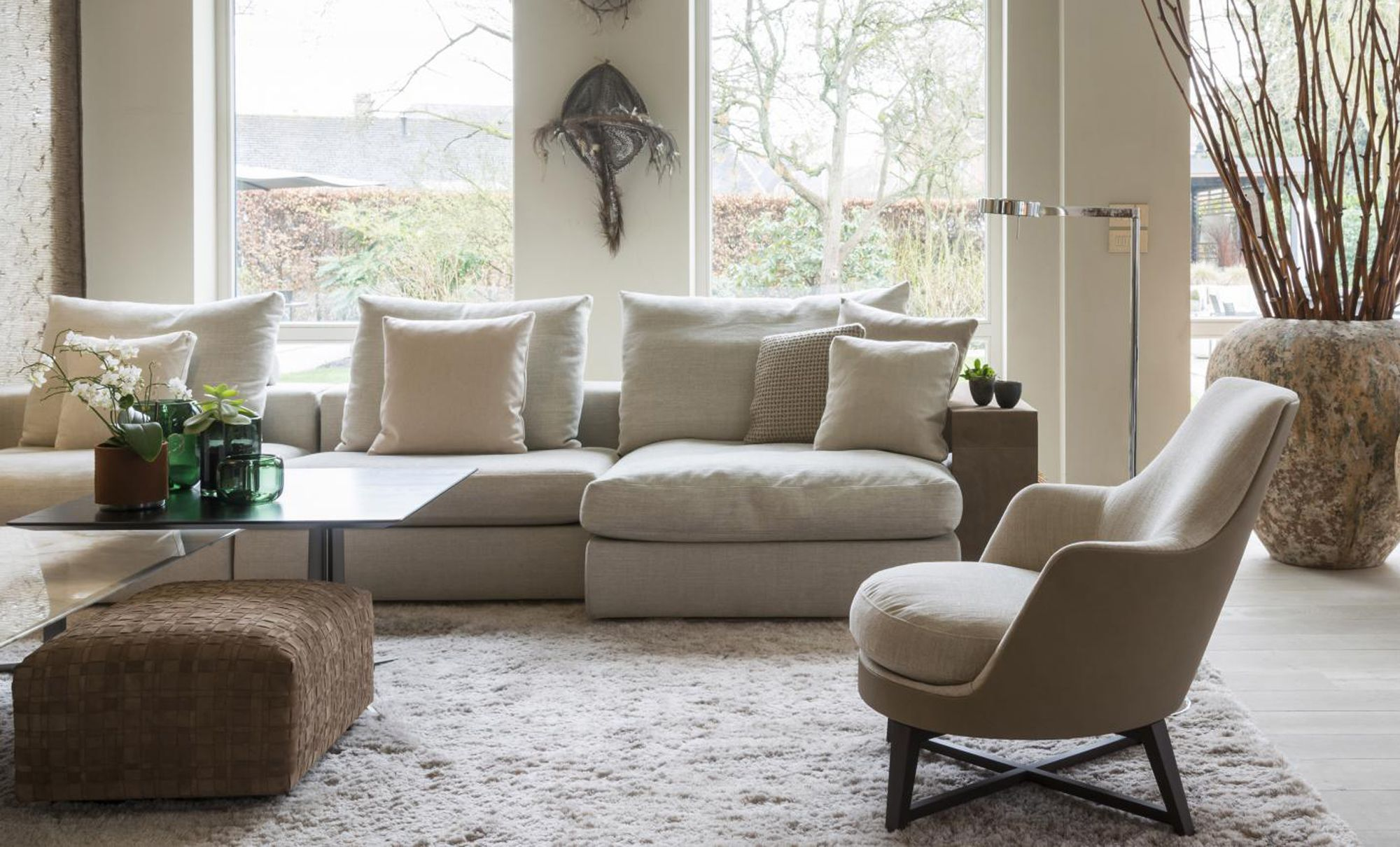 Flexform Groundpiece Sofa With The Guscio Armchair And Bangkok Ottoman,  Available From Fanuli Sydney And · CottageHouse IdeasLiving Rooms InteriorBankLounge ...