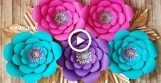 Giant Paper Flower | How To Make  Diy Rose Tutorial (Large Size Paper Rose) #diy #flowers #easypaperflowers