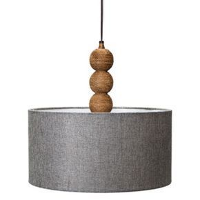 50 Mudhut Tm Rope Textured Plug In Pendant Lamp With Gray Linen Shade Plug In Pendant Light Swag Pendant Light Pendant Lamp