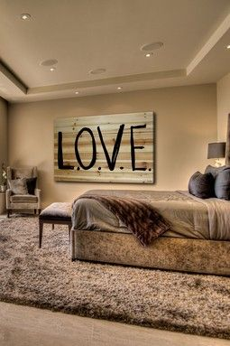 L-O-V-E Brown Distressed Wood Wall Art on haute look TODAY