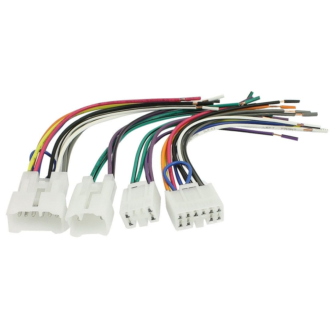 medium resolution of unique bargains unique bargains 4 pcs car dvd gps wire wiring harness set for toyota corolla crown camey