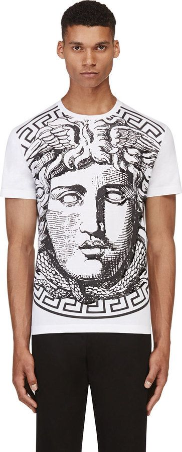 aeebd950 Versace White & Black Big Medusa T-shirt on shopstyle.com   Things ...