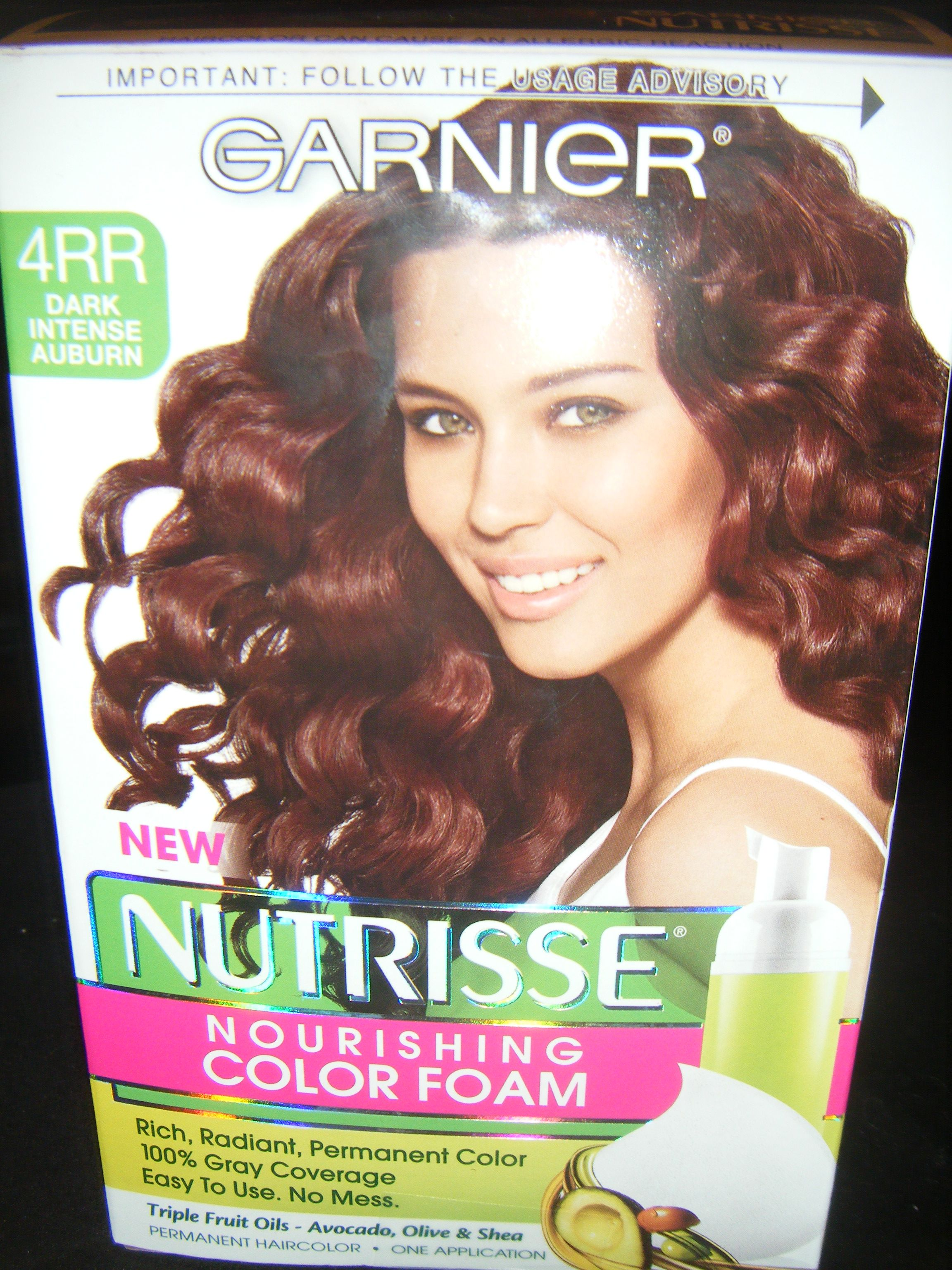 Dark Auburn Hair Color Garnier Nutrisse Nourishing Foam 4rr Intense