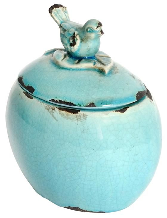 The Bluebird Lidded Jar Is A Simple Fun Way To Add Instant Vintage
