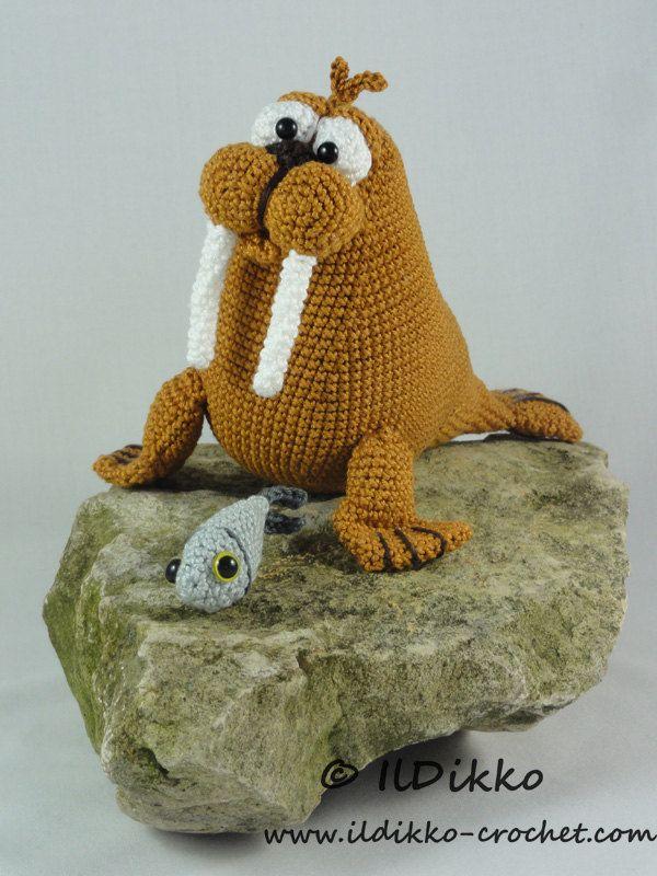 Amigurumi Crochet Pattern Walter The Walrus English Version