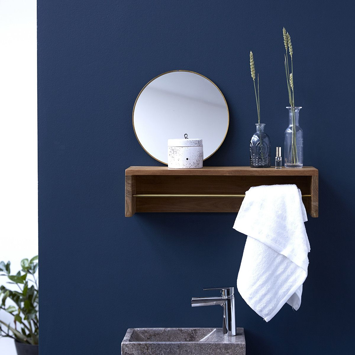 Sasha Teak Bathroom Shelf 60 In 2020 Badezimmer Holz