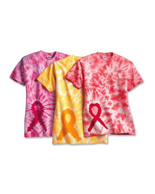 c3fbfcc95 Tie-Dyed Awareness Ribbon T Shirt Relay For Life | Relay For Life ...