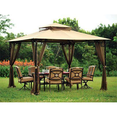Replacement Canopy And Netting Set For The Bamboo Look Gazebo Sold At Big Lots By Garden Winds 149 99 Backyard Gazebo Outdoor Gazebos Gazebo Pergola
