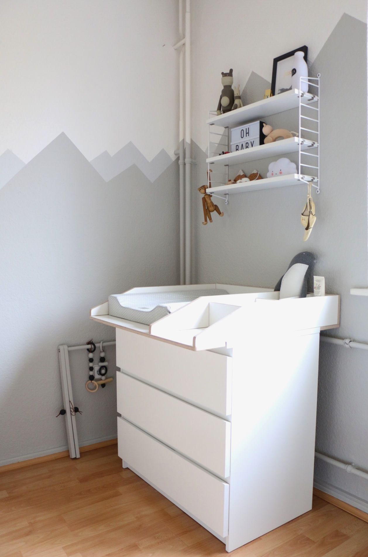 Mountain Nursery Wallpaint Wandgestaltung im Babyzimmer