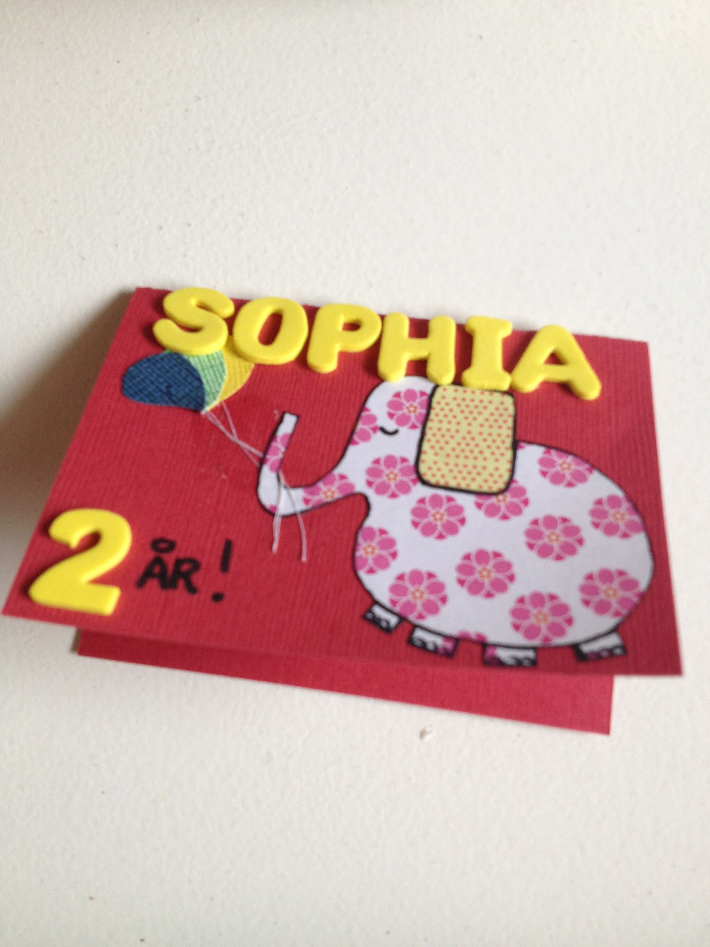 Homemade birthday card for year old girl my stuff