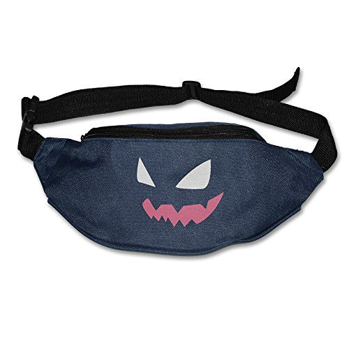 AUSIN Unisex Cartoongengar Face Running Waist Bag Pack Navy ** To view further for this item, visit the image link.