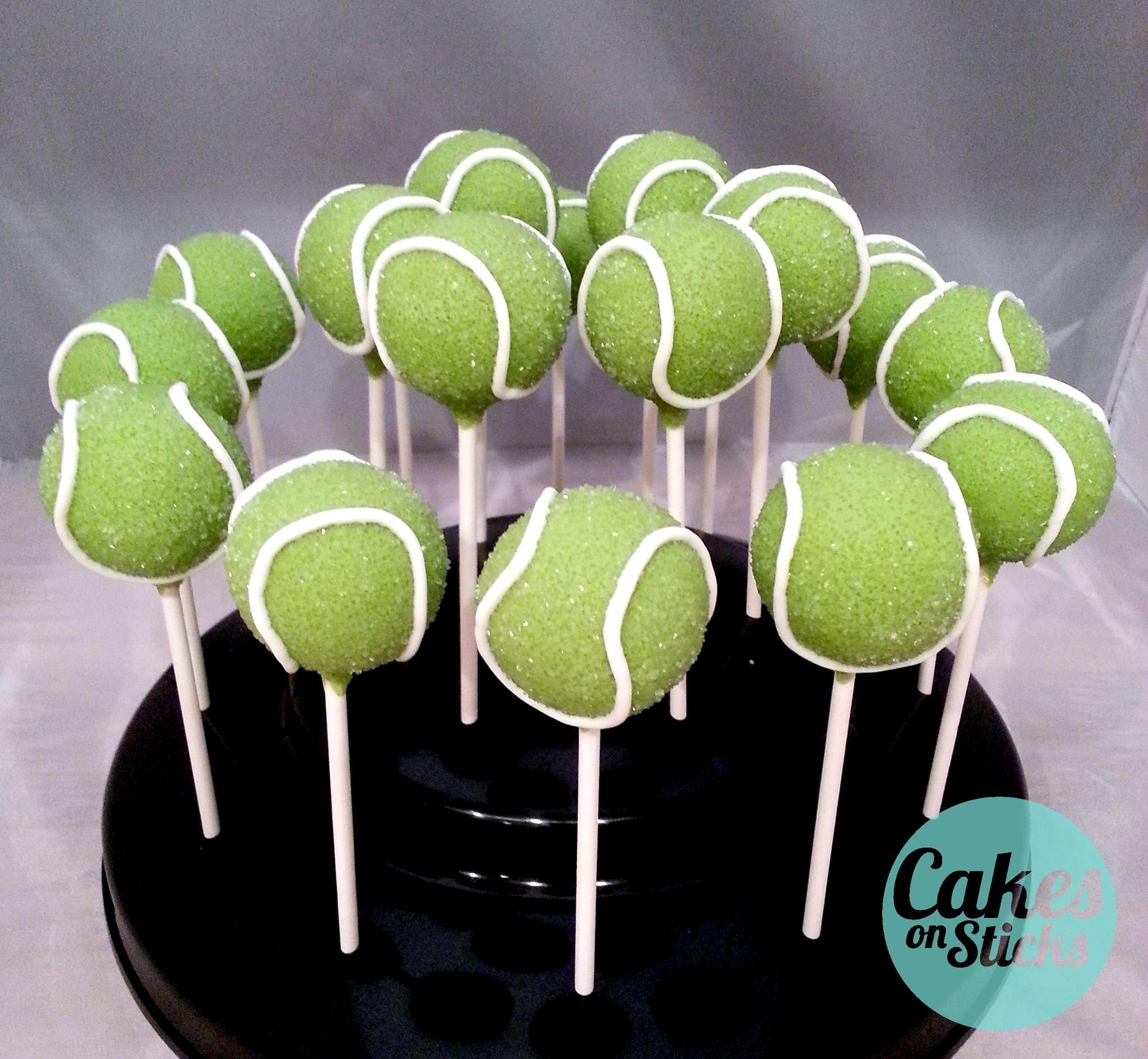 Cakes On Sticks Tennis Cake Tennis Cupcakes Cake Pops