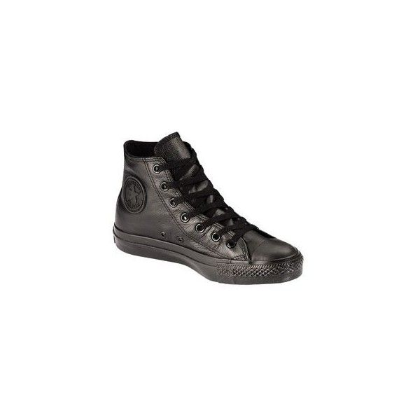 Converse- -Unisex Chuck Taylor All Star Leather Hi 1T405-... ($50) ❤ liked on Polyvore