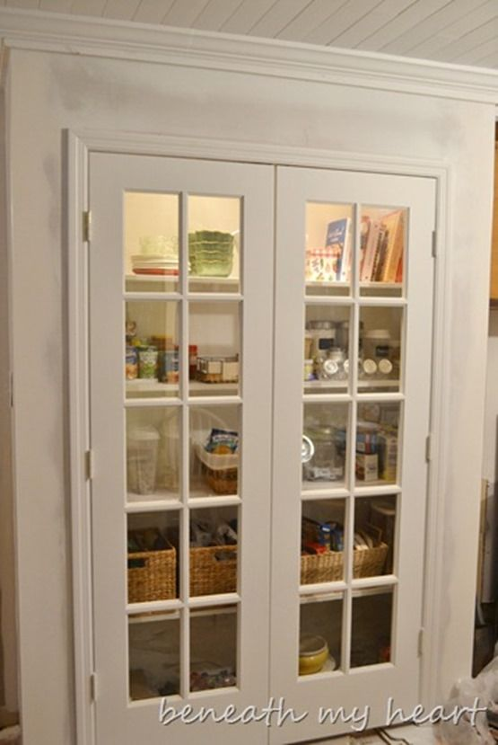 10 Pretty And Organized Pantries Old French Doors Closet Remodel French Doors Interior