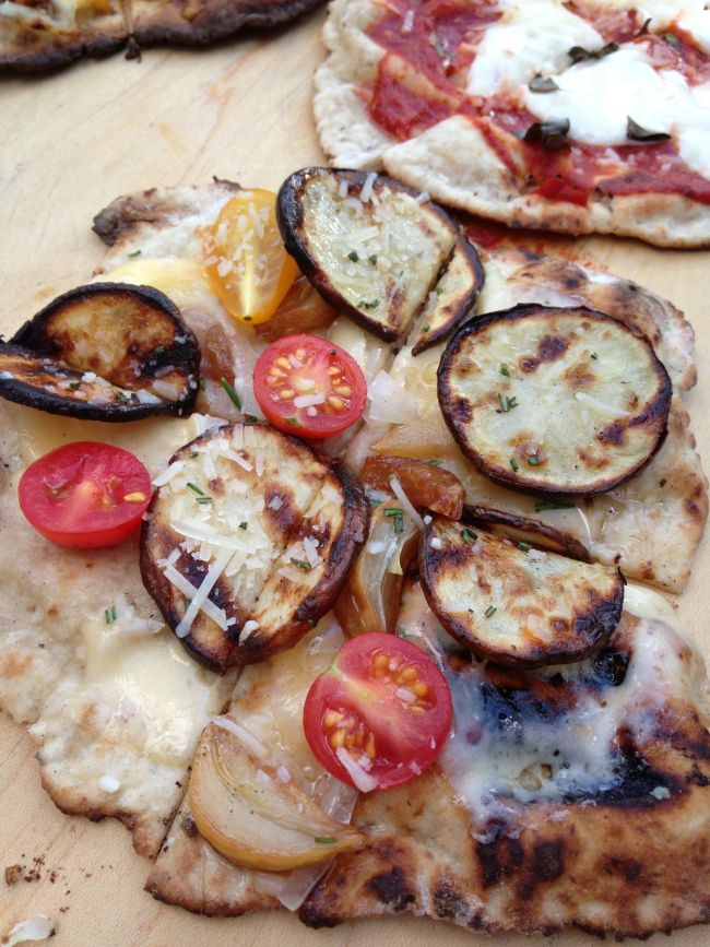 Gluten Free Grilled Pizza: Potato and Roasted Garlic with Rosemary