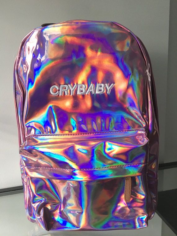 Crybaby Iridescent Holographic Backpack pink by Kokopiebrand   Wild ... 58858313b7